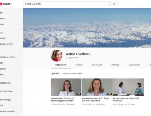 Noch mehr Karriere-Tipps für Sie jetzt auf meinem neuen YouTube Channel